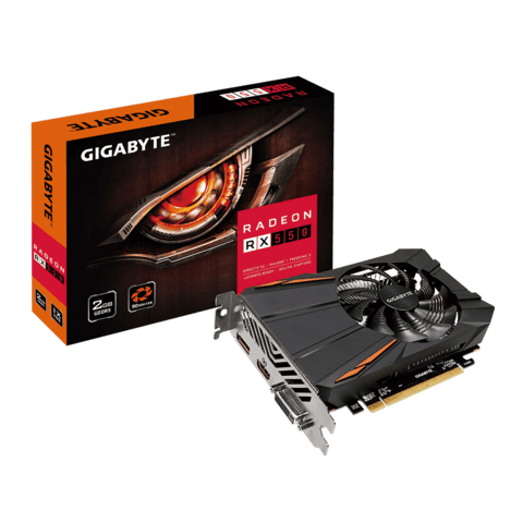 VGA PCI-E 2GB GIGABYTE RX550 DDR5/HDMI/DVI-D/DISPLAY PORT G/6 MESES