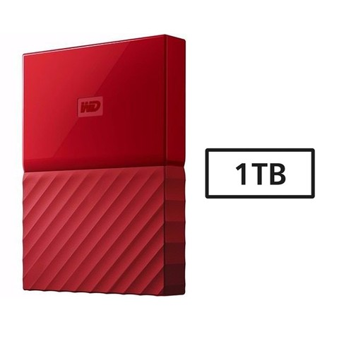 HD USB  1TB WD 3.0 MY PASSPORT ROJO G/6 MESES