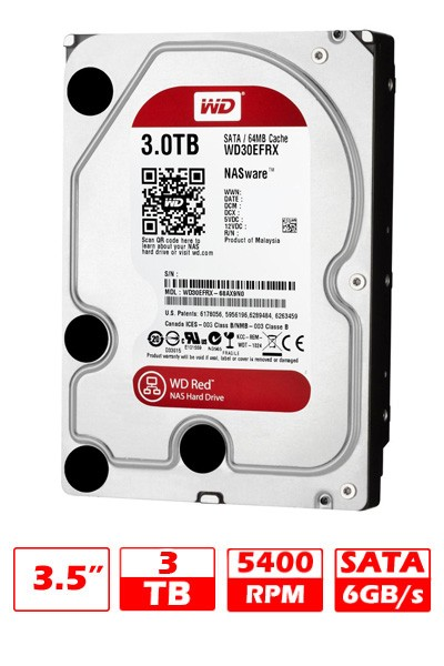 HD 3TB WD SATAVI RED 64MB G/6 MESES