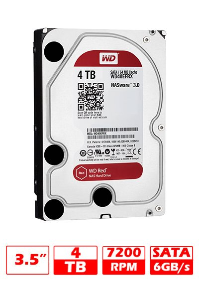 HD 4TB WD SATAIII RED 64MB G/6 MESES