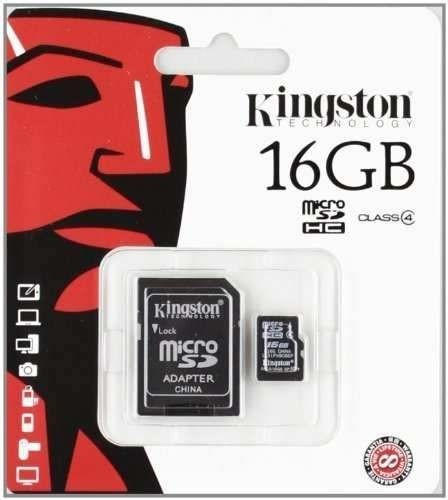 MEM MICRO SD CLASE10 16GB KINGSTON C/ADAPTADOR G/6 MESES