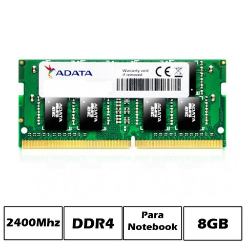 MEM NB DDR4 8GB PC2400 ADATA SINGLE TRAY G/6 MESES