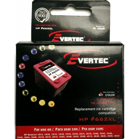 EVERTEC HP 662XL COLOR P1515//2515/3515 10ML