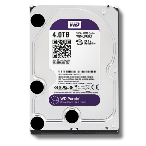 HD 4TB WD SATAIII PURPLE 64MB 7200G/6 MESES
