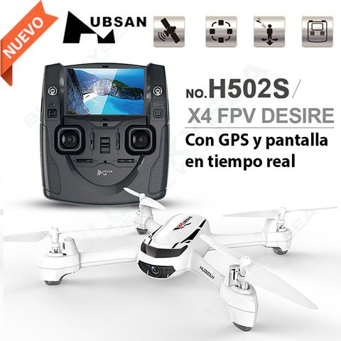 DRONE HUBSAN H502S DESIRE 720P/GPS/REGRESO AUTO/LED/AUTON 12MIN/200MTS G/6 MESES - comprar online