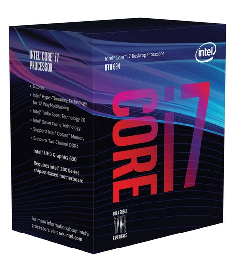 MICRO INTEL I7 8700K COFFEE 12MB 3.7GHZ S.1151 G/12 MESES