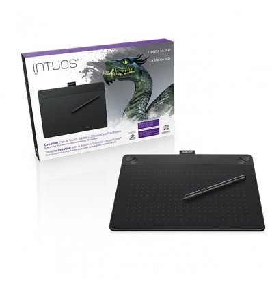 TABLA DIGITAL WACOM 3D INTUOS MEDIUM CTH-690 C/LAPIZ 21.6X13.5 2540IPPG/6 MESES