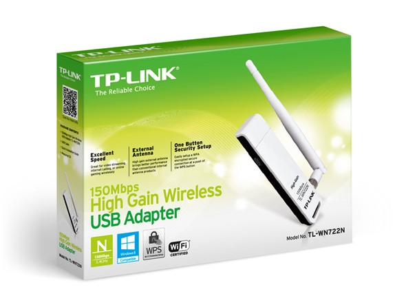 RED USB WIFI TP-LINK TL-WN722N 2.4GHZ 150MBPS 1 ANT 4DBI G/3 MESES - comprar online