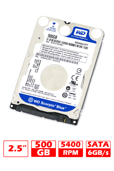 HD NB SATA  500GB WD BLUE G/6 MESES