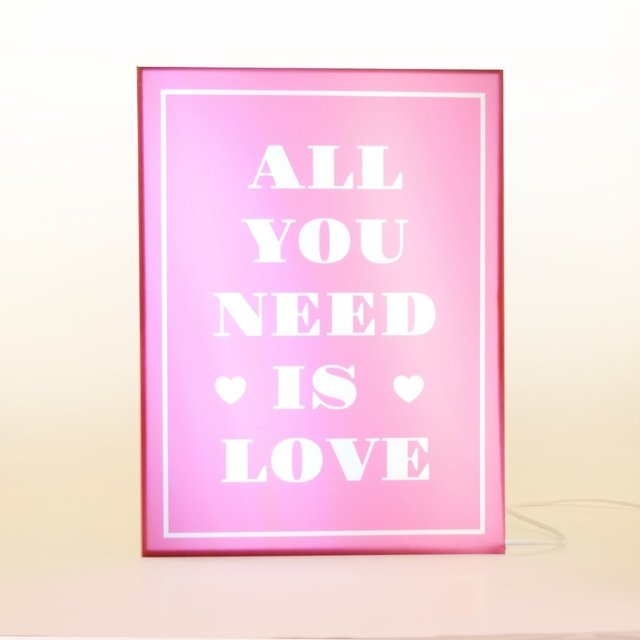 CAJA LED All you need is Love - comprar online