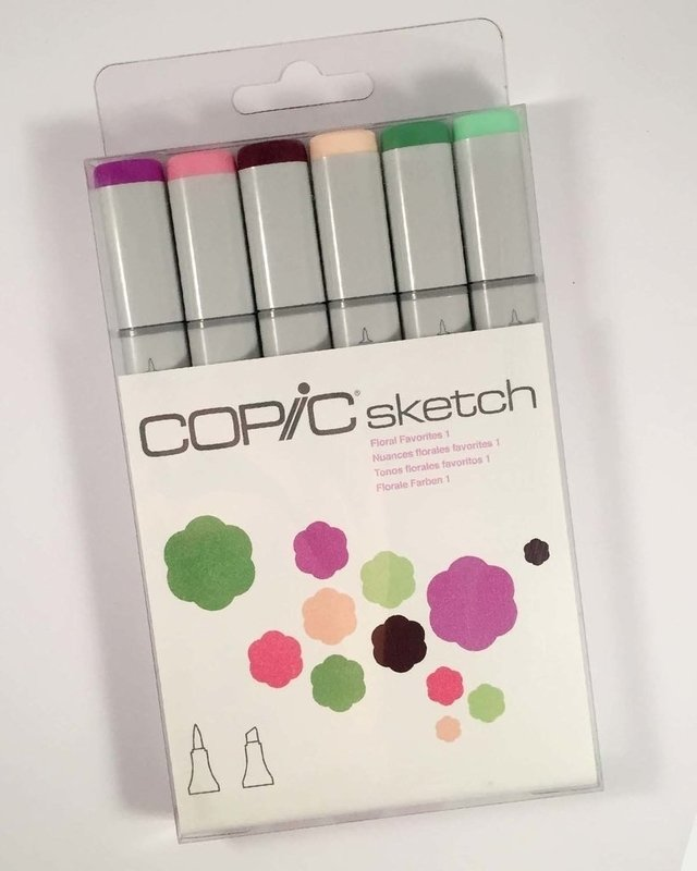 Set Copic Sketch Tonos Florales Favoritos 1