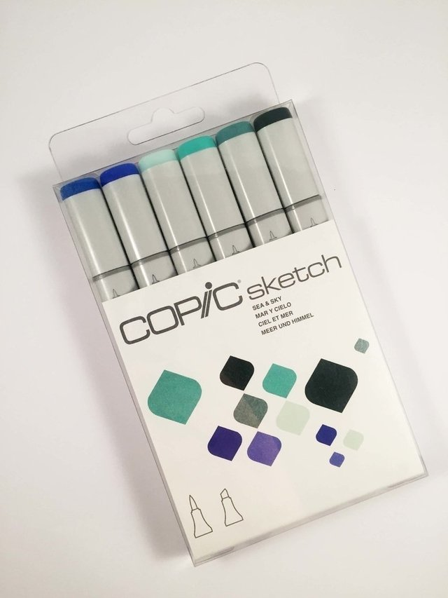 Set Copic Sketch Mar y Cielo