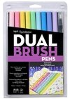 Tombow Dual Brush Set 10 Color Pastel