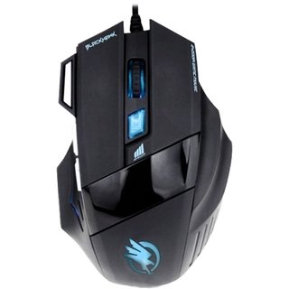 Mouse Gamer USB Black Hawk 2400 DPI Preto FORTREK - 52013