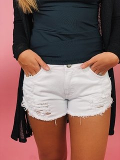 shorts jeans essential branco