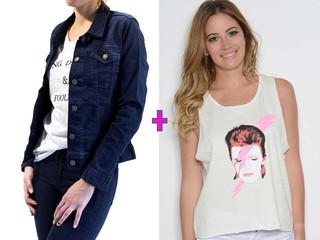 Combo! Campera de Jean + Remera Estampada