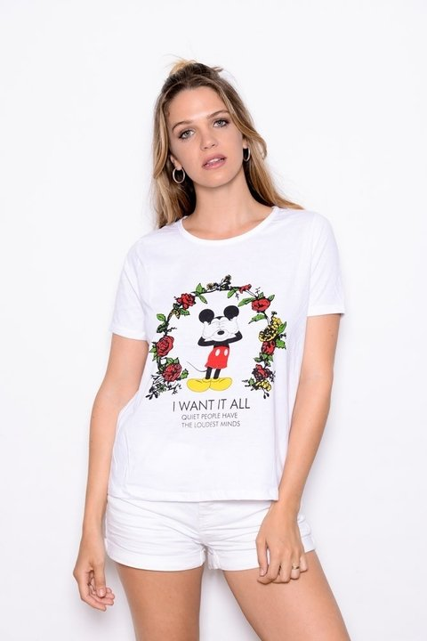 Remera Mickey I want it al  Art 9863 EM - comprar online