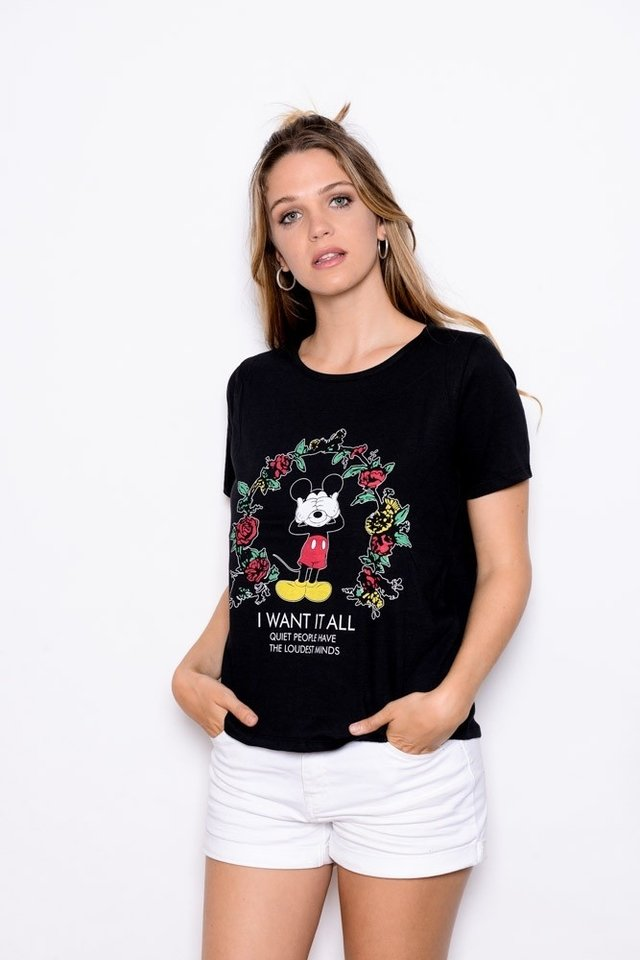 Remera Mickey I want it al  Art 9863 EM