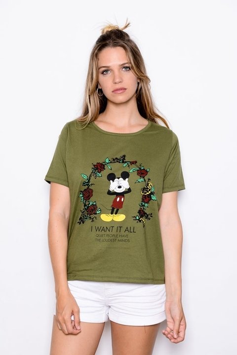 Remera Mickey I want it al  Art 9863 EM - tienda online