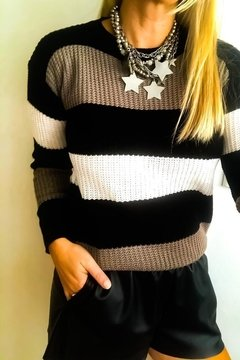 SWEATER CON FRANJAS FK