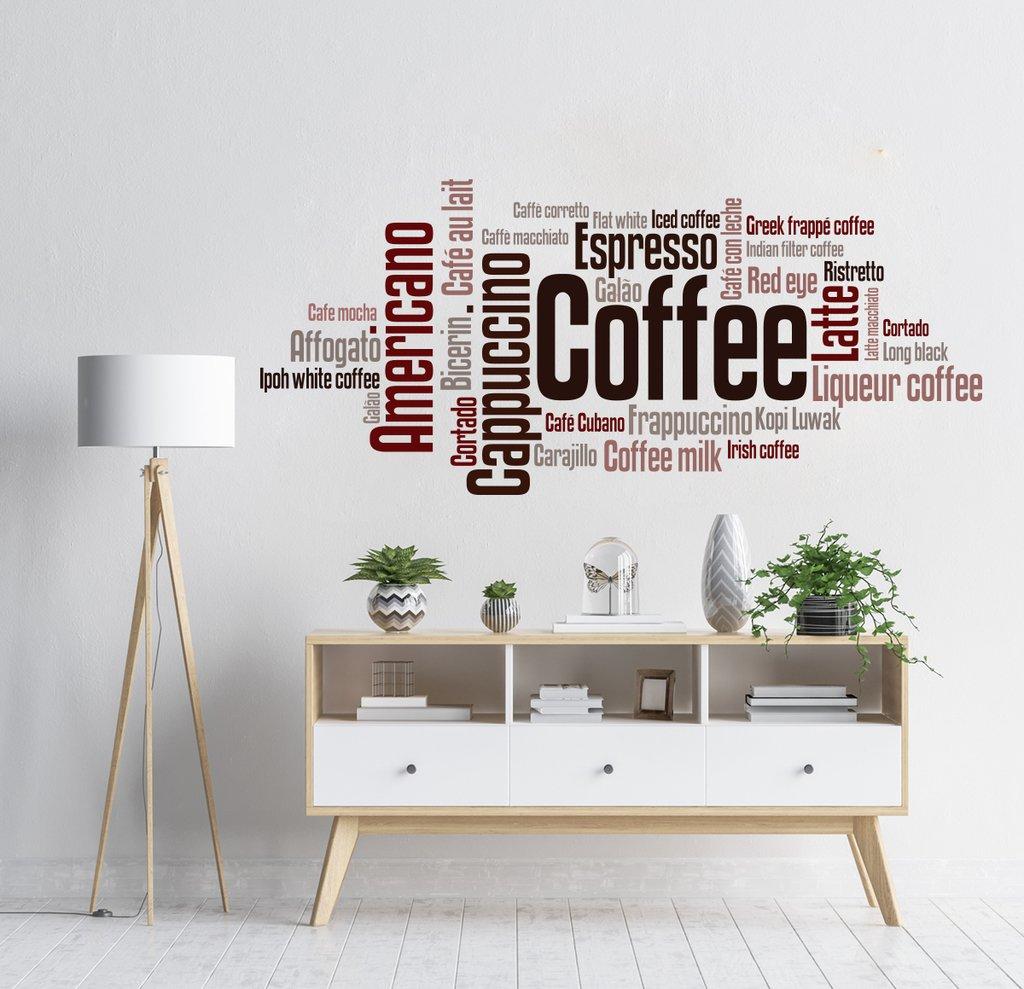 Adesivo De Parede Frases Café