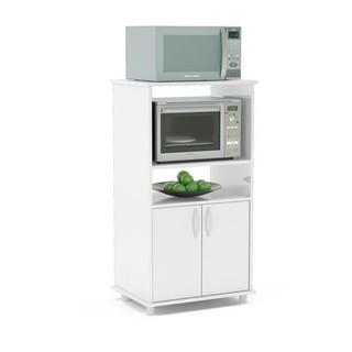 Mueble organizador de cocina con espacio para microondas for Mueble organizador