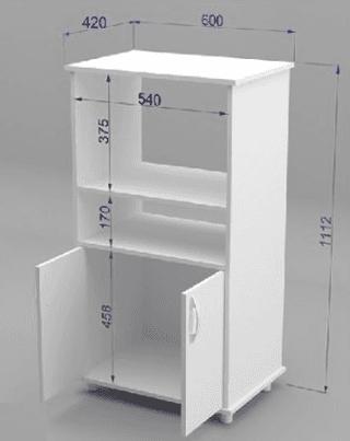 Mueble organizador de cocina con espacio para microondas for Muebles para microondas ikea