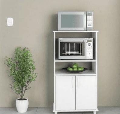 Mueble organizador de cocina con espacio para microondas - Mueble alto microondas ...