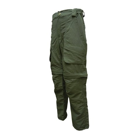 Pantalon Outdoor Desmontable Hombre Color Verde