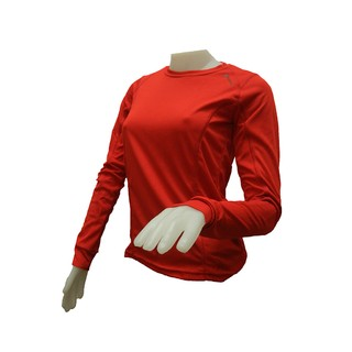 Remera Termica Dama Color Rojo
