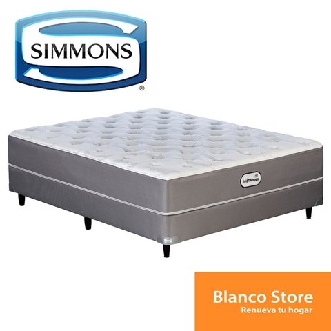 SOMMIER Y COLCHON SIMMONS BACKTHERAPY