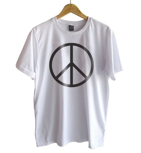 t-shirt white peace sign