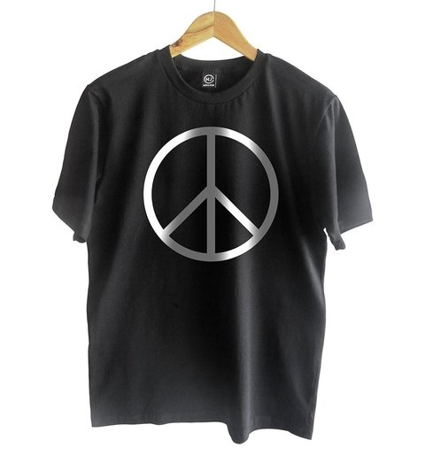 t-shirt black peace symbol