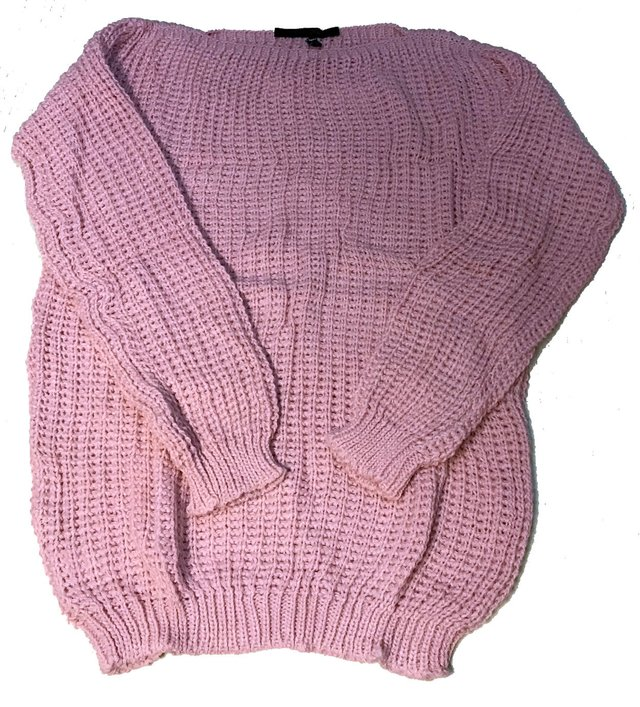 Sweater cuello redondo punto Ingles