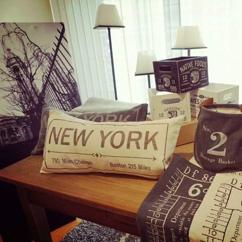 ALMOHADON NEW YORK 30X60 CRUDO en internet