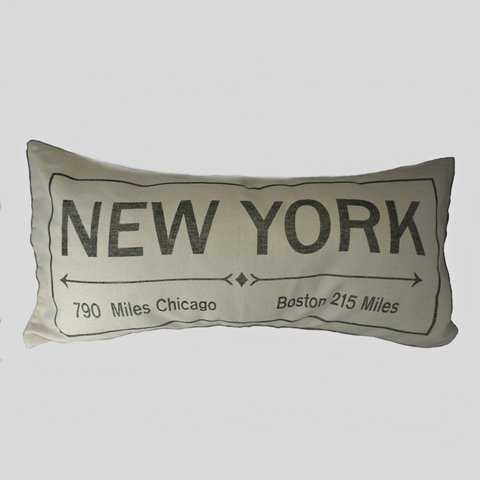 ALMOHADON NEW YORK 30X60 CRUDO