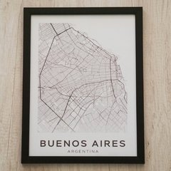 CUADRO 43X33 BUENOS AIRES MARCO NEGRO