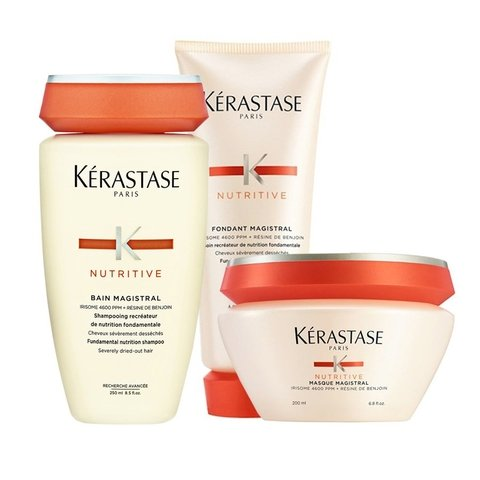 Kit Kerastase Nutritive Magistral Shampoo 250ml + Condicionador 200ml + Mascara 200ml