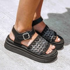Sandalias Tracy Black & White