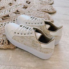 Sneakers Tweed Beige - comprar online