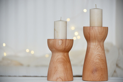 Set Candelabros Wood