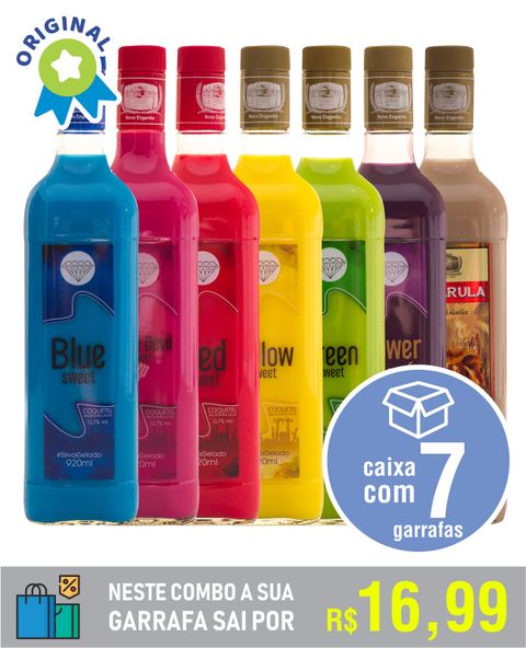 Combo #05 - com 1 Blue Sweet + 1 Little Devil Sweet + 1 Red Sweet + 1 Yellow Sweet + 1 Green Sweet + 1 Açaí Power + 1 Macarula - comprar online