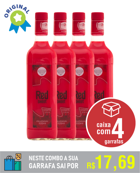 RED SWEET - caixa com 4 unid