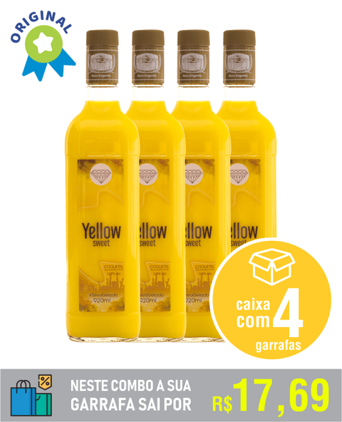 YELLOW SWEET - caixa com 4 unid