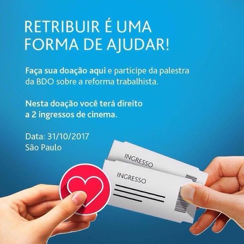 PALESTRA + INGRESSO DO CINEMA.