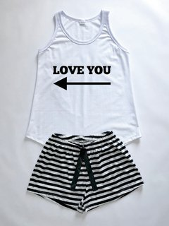 Pijama Feminino Love Regata e Shorts