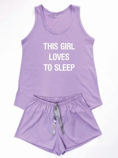 Pijama Feminino Loves To Sleep Regata e Shorts - comprar online