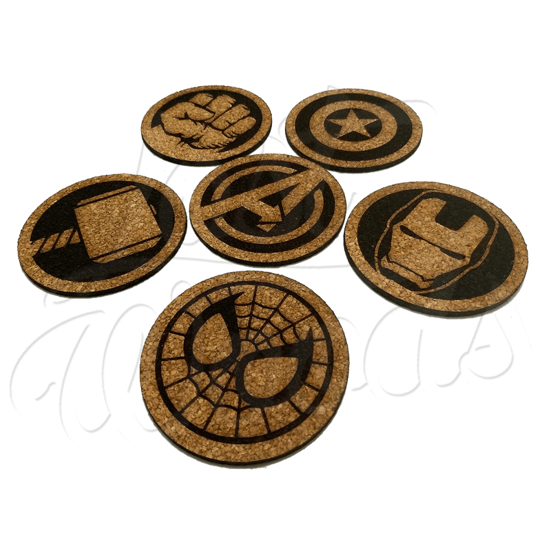Set Posavasos x6 Avengers