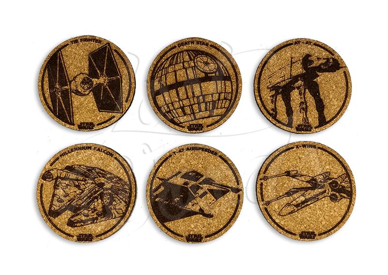 Set Posavasos x6 Naves Star Wars