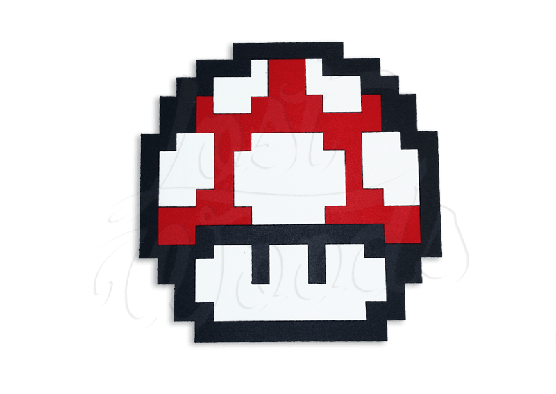 Cuadro Honguito Grow Up (Mario Bros)